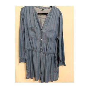 Old Navy Chambray Button Up Romper